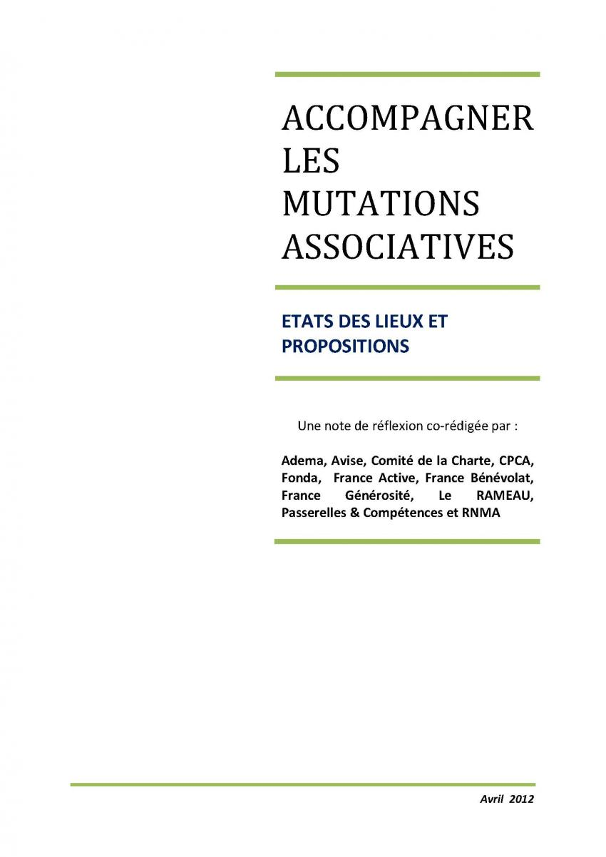 Accompagner les mutations associatives